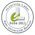 e-Learning Label SoSe 2011